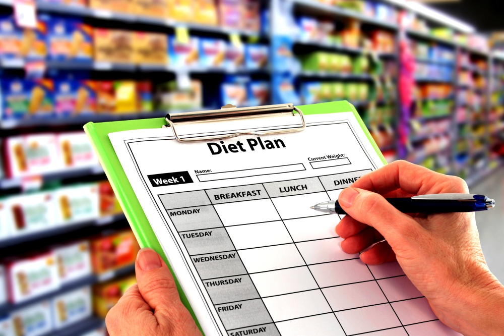 Writing a Diet Plan in the Supermarket